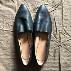Dr Scholls Black Leather Loafers size 11